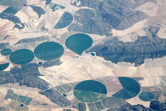 View of the earth from an airplane. Window Royalty Free Stock Photo