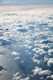 A view of the earth with clouds and the surface of the stratosph stock image