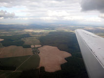 View of the earth from the plane Royalty Free Stock Photography