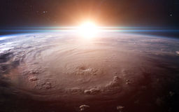 View of earth from space. Elements of this image furnished by NASA Royalty Free Stock Image