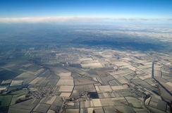 View of Earth from , winter Stock Photo