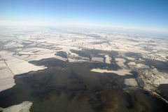 View of Earth from , winter Royalty Free Stock Photo