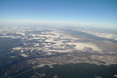View of Earth from , winter Royalty Free Stock Photos