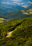 View east of mountains and valleys from Spruce Knob, WV Stock Images