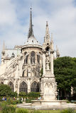The view on east side of the Notre-Dame Cathedral, Par Royalty Free Stock Photos