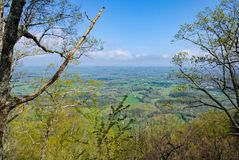 View of East Tennessee from House Mountain royalty free stock photo