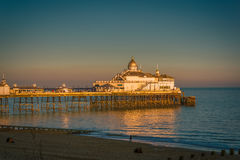 View of Eastbourne Pier. At Sunset Royalty Free Stock Photo