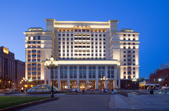 View of the eastern facade of the old Hotel Moskva Royalty Free Stock Image