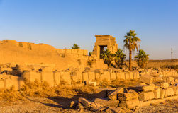 View of the Eastern Gate in the Karnak temple Royalty Free Stock Image