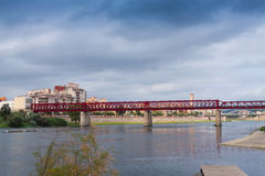 View of Ebre river in Tortosa. Spain stock images