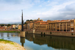 View of Ebre in Tortosa. Spain royalty free stock images