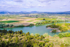 View of the Ebro River near Tivissa, Spain Stock Image