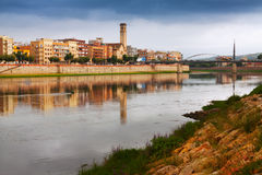 View of Ebro river in Tortosa Royalty Free Stock Photos