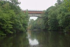 A view of Echo Bridge in Hemlock Gorge stock images
