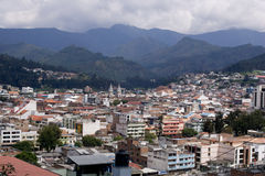 View of Ecuadorian City. Loja Ecuador, view with Andes mountains stock image