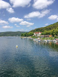 View from the Edersee dam in Germany. Stock Images