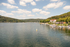View from the Edersee dam in Germany. Royalty Free Stock Photos