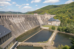 View of the Edersee Dam in Waldeck-Frankenberg. Stock Photos
