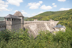 View of the Edersee Dam in Waldeck-Frankenberg. Stock Image
