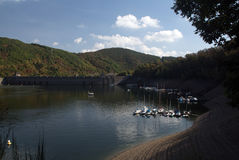 View of the Edersee Dam Royalty Free Stock Photo