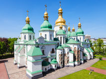 View of edifice of Saint Sophia Cathedral in Kiev. Travel to Ukraine - view of edifice of Saint Sophia Holy Sophia, Hagia Sophia Cathedral from bell tower in Stock Images