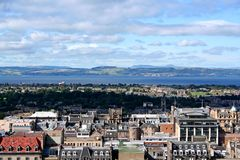 View of Edinburgh. From the castle royalty free stock photo