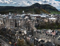 View of Edinburgh and Arthur`s Seat Royalty Free Stock Images