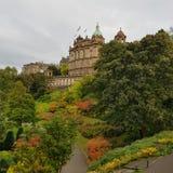 Edinburgh. A view in Edinburgh with autumnal bushes Royalty Free Stock Photo