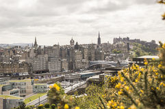 View of Edinburgh from Calton Hill. In spring Royalty Free Stock Photos