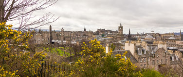 A view of Edinburgh from the Calton Hill in spring Royalty Free Stock Photo