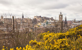 A view of Edinburgh from the Calton Hill in spring Royalty Free Stock Photography