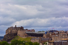 View at the Edinburgh Castle and the city centre, Edinburgh, Scotland Royalty Free Stock Photography