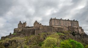 A view of Edinburgh Castle from the city centre, Scotland. Great Britain stock photo