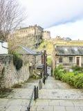 View on Edinburgh Castle from Heriot place, Edinburgh, Scotland Royalty Free Stock Photos