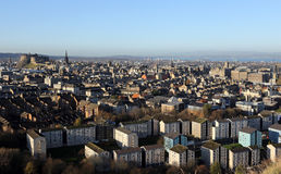 View of Edinburgh with castle Royalty Free Stock Image