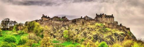 View of Edinburgh Castle in Scotland Royalty Free Stock Photos