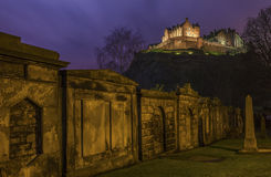 View of Edinburgh Castle in Scotland Stock Photo