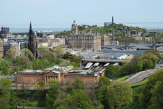 The view of Edinburgh Stock Photography