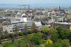 The view of Edinburgh. From the Edinburgh castle, Scotland, UK Stock Photos