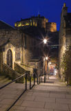 View of Edinburgh Castle from Vennel Royalty Free Stock Photos