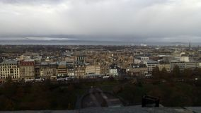 View of Edinburgh from the castle royalty free stock photo