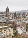 A view of Edinburgh city center Royalty Free Stock Photo