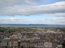 View of Edinburgh city from Edinburgh castle Royalty Free Stock Photos