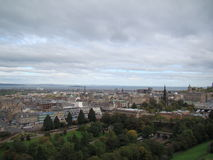 View of Edinburgh city from Edinburgh castle Stock Photos