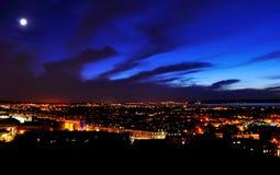 View on Edinburgh harbor in night Stock Photography
