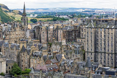 View of Edinburgh Old Town is Scotland, United Kingdom Royalty Free Stock Image