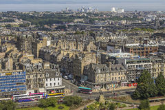 View on Edinburgh with Princess street Stock Photography