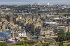 View on Edinburgh with Princess street stock photography
