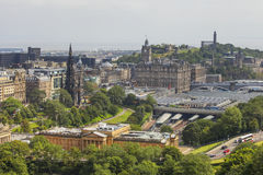 View on Edinburgh's Waverly railway station Royalty Free Stock Image