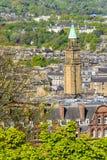View of Edinburgh, Scotland. View of the city of Edinburgh, from the Edinburgh Castle stock photo